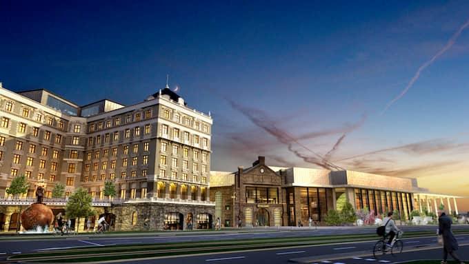 """Det nya hotellet kommer att byggas i gammal stil """"som det kunde ha sett ut vid sekelskiftet 1700-1800"""". Foto: Liseberg"""