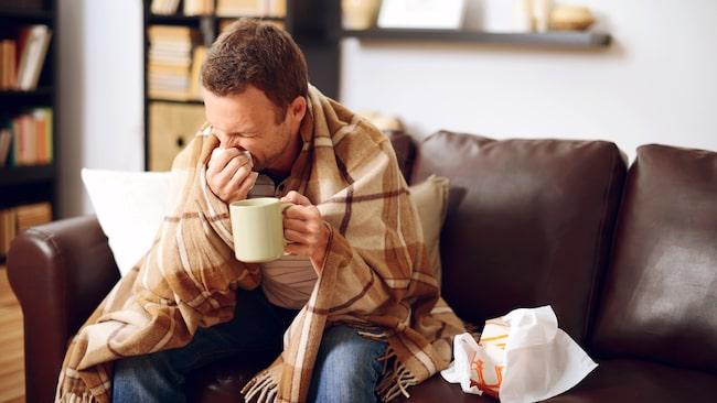 Bara 49 procent av männen väljer vila när de är sjuka.
