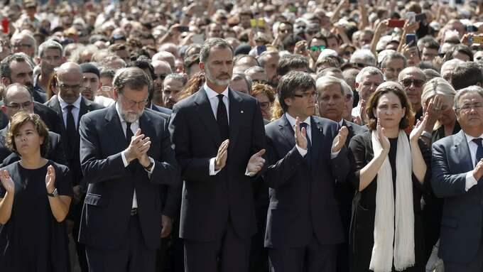 Spanien är ett land i sorg. Foto: ANDREU DALMAU / EPA / TT / EPA TT NYHETSBYRÅN