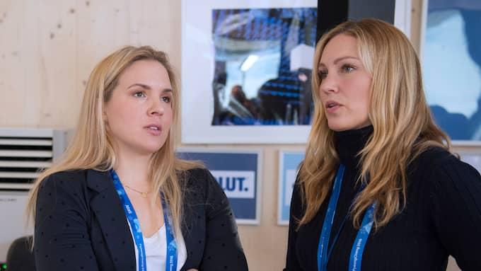 """Anja Pärson och Jessica Almenäs leder """"OS-kväll"""" Foto: SVEN LINDWALL"""