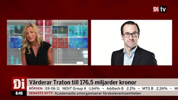 """Hägerstrand om Tratons värdering: """"Börjar bli riktigt aptitligt"""""""