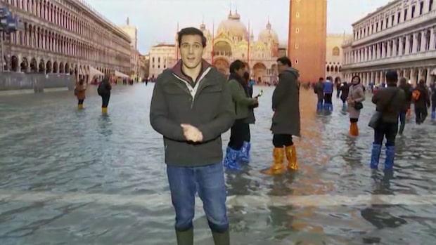 De massiva översvämningarna i Venedig fortsätter