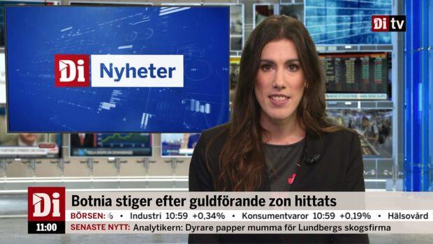 Di Nyheter 11.00 22 okt - Botnia stiger efter guldzon hittats
