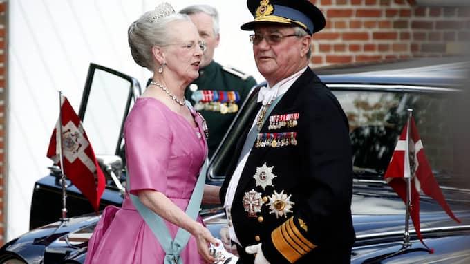 Prins Henrik tillsammans med hustrun drottning Margrethe. Foto: JOACHIM WALL