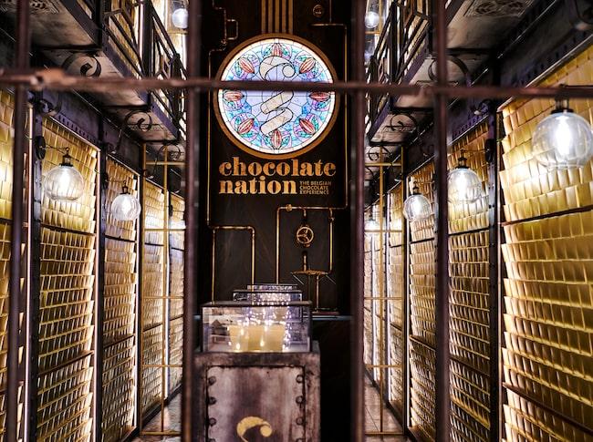 Chokladmuseet  skildrar vägen från böna till kaka.