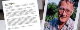 Kamprads hemliga brev hittades efter hans död