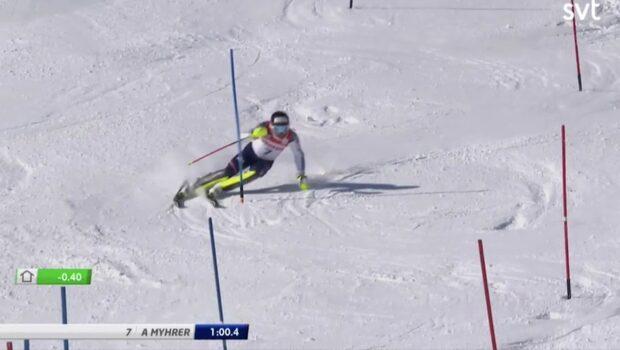 André Myhrer tar åttonde SM-guldet i slalom
