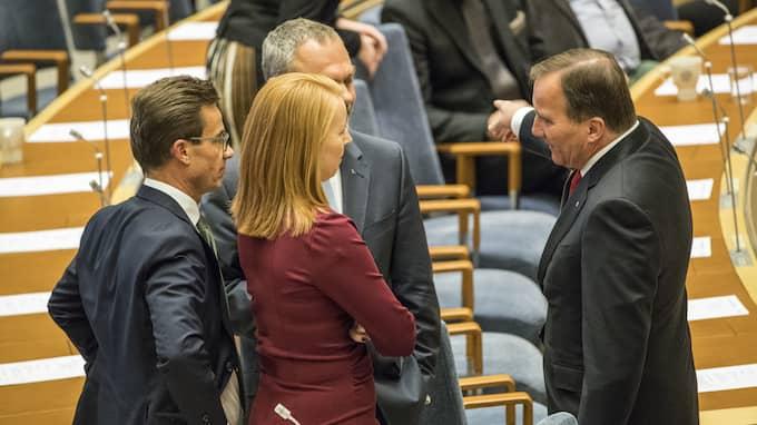 Dagens partiledardebatt bjöd på få nyheter. Foto: MIKAEL PERSSON / MIKAEL PERSSON/STELLA PICTURES STELLA PICTURES
