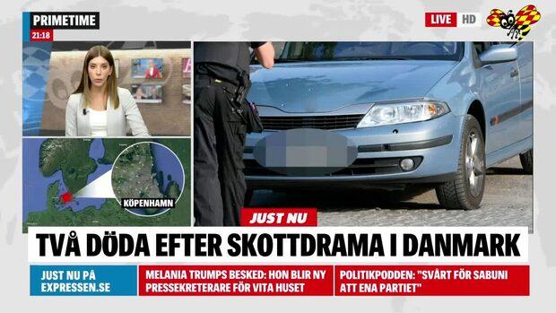 Två personer döda efter skottlossning i Köpenhamn