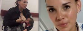 Polisen hyllas för insatsen – ammade skrikande barn