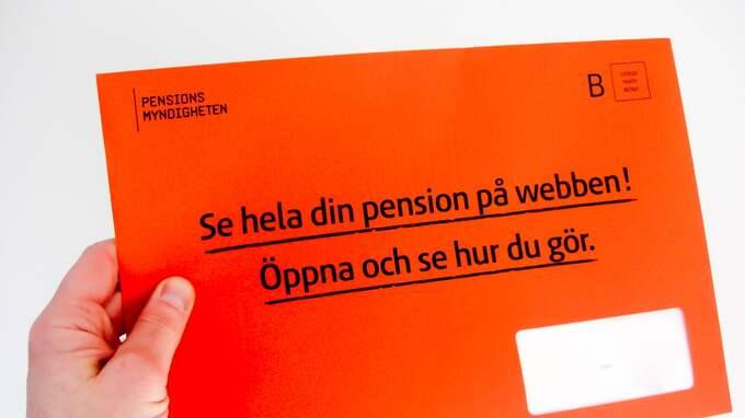 I februari 2018 kommer det orangefärgade brev med posten. Men redan i helgen kan du logga in på Pensionsmyndigheten och se hur mycket nya pengar du får i premiepensionen. Foto: HENRIK ISAKSSON/IBL / /IBL