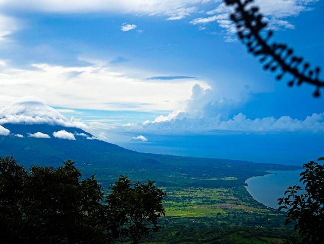 Utsikt över Volcán Maderas i Nicaragua.