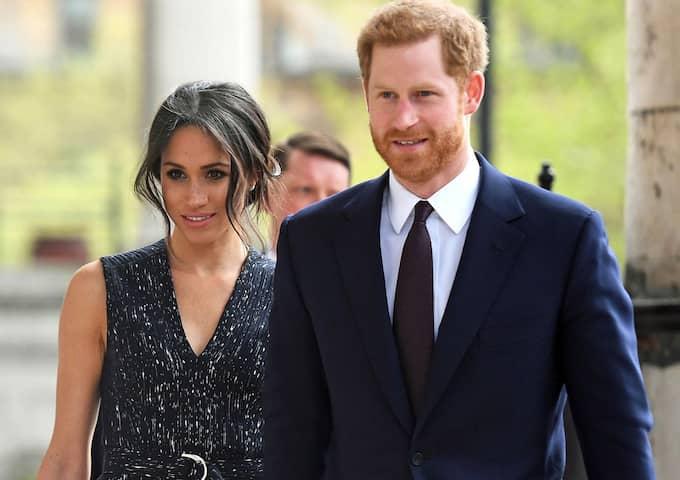 Prins Harry och Meghan Markle gifter sig sig i dag lördag. Foto: STR / EPA EPA