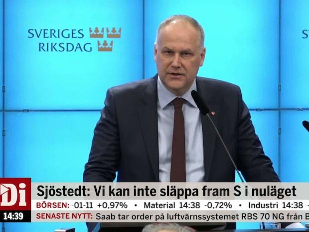 Sjöstedts besked: Kan inte släppa fram S i nuläget