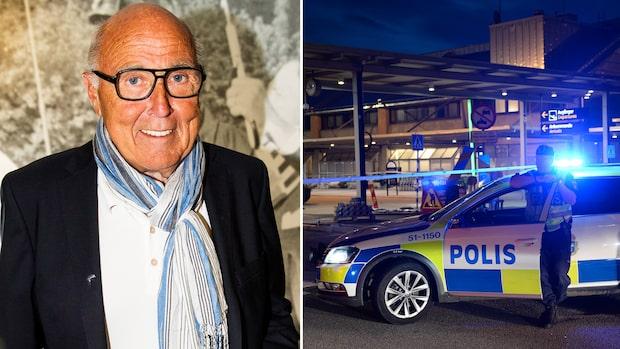 Landvetter utrymt - Ingvar Oldsberg mitt i tumultet