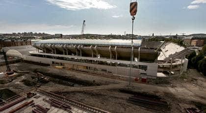 Den nya arenan ska kunna ta 18 000 åskådare. Foto: Jacobsson Leif