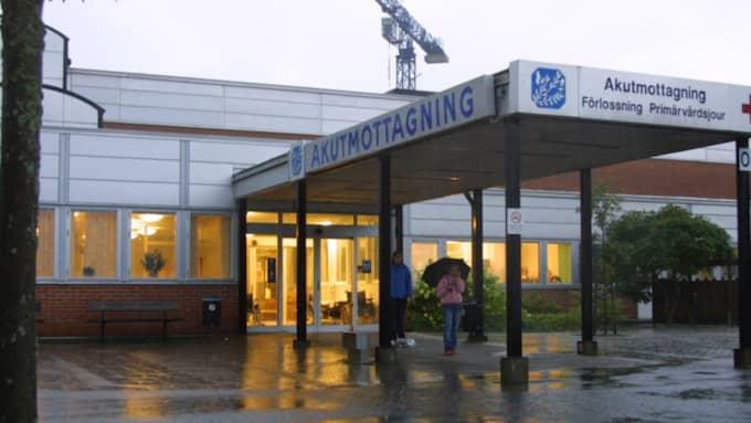 Mannen fördes akut till Varbergs sjukhus. Foto: Sara Wågenberg