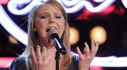 "Malin Brännlund sjöng ""Thank you"". Foto: OLLE SPORRONG"