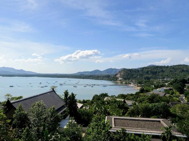 Vacker utsikt över Cape Yamu.