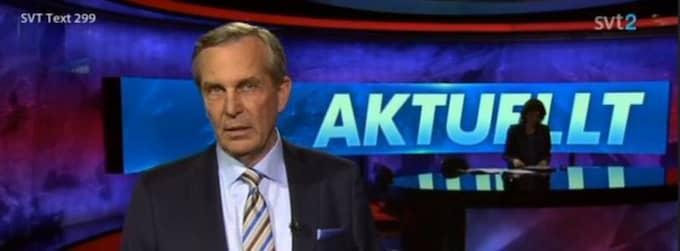 "Claes Elfsberg i SVT:s storsatsning i nya ""Aktuellt"". Foto: SVT"