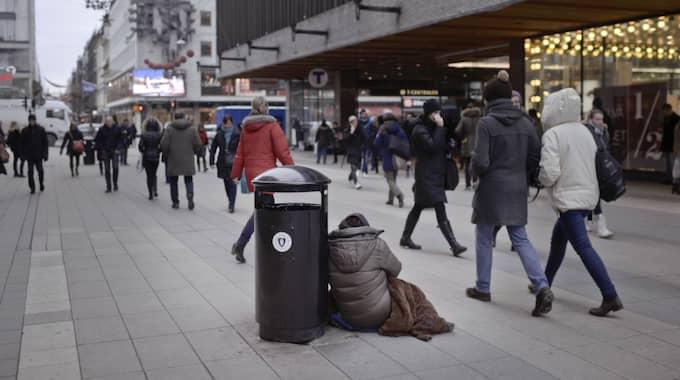 55 procent av stockholmarna vill förbjuda tiggeri. Foto: Martin Von Krogh/Expressen / MARTIN VON KROGH/EXPRESSEN