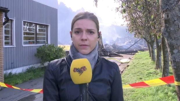 """Branden i Slottsskogshallen: """"Inte mycket kvar av byggnaden"""""""