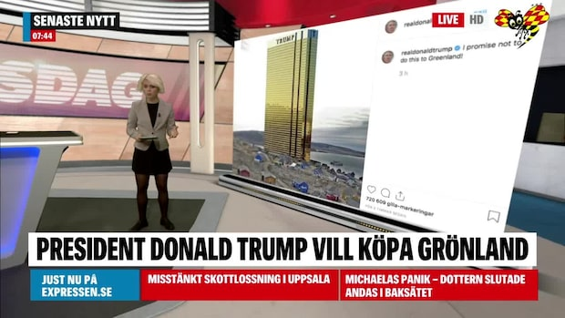 """Trumps skämt om Grönland: """"Jag lovar"""""""