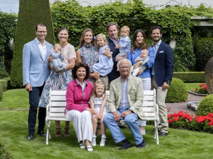 Familjebilden som släpptes på onsdagen. Foto: Jonas Ekströmer/TT