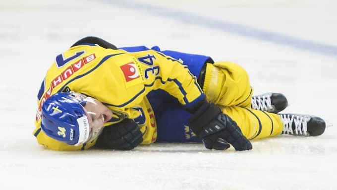 Daniel Brodin skadade sig under en landskamp i april. Foto: KENTA JÖNSSON / BILDBYRÅN
