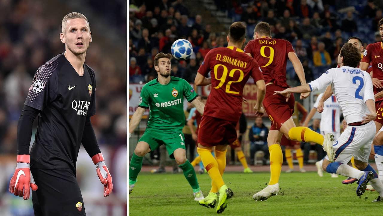 Roma robin olsen h ll nollan f r andra cl matchen i rad for Robin olsen squadre attuali