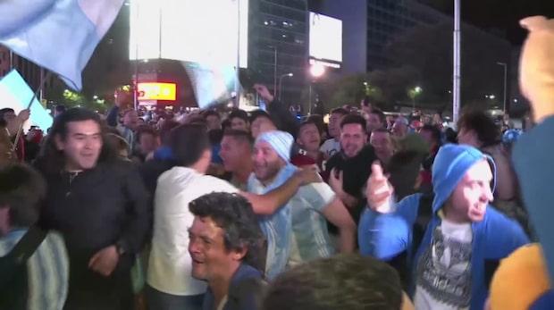 Vilda firandet när Messi sköt Argentina till VM