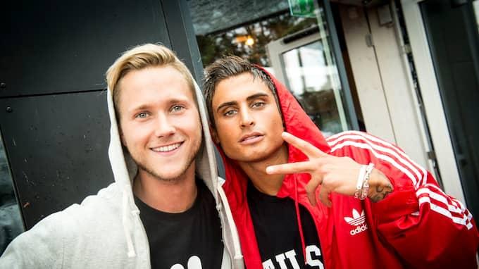 Samir och Viktor tävlar i den andra deltävlingen av Melodifetivalen. Foto: CHRISTER WAHLGREN / KVP/ EXPRESSEN