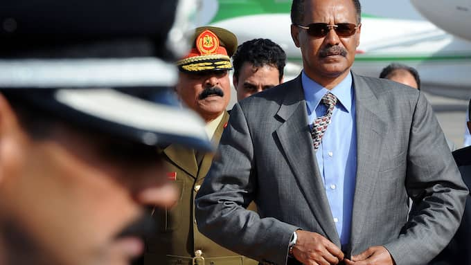 Eritreas diktator Iasias Afewerki är inte avskydd bland alla som lämnar landet, många vill mest få det ekonomiskt bättre. Foto: GEERT VANDEN WIJNGAERT / AP