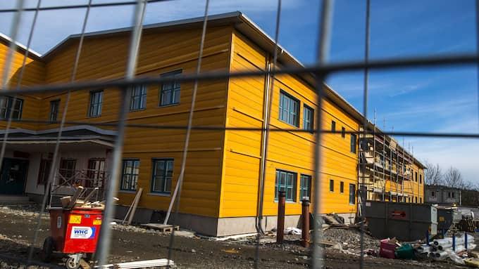 Den omdebatterade Kvibergsskolan i Göteborg står klar nästa år, redo att ta emot 700 elever. Foto: HENRIK JANSSON