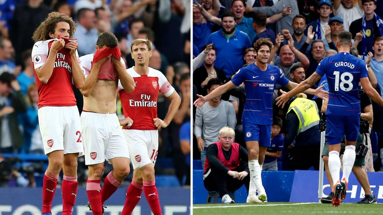 Premier League: Målshow Mellan Arsenal Och Chelsea