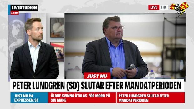 Peter Lundgren (SD) hoppar av EU-uppdraget