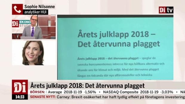 Återvunna plagg är årets julklapp 2018
