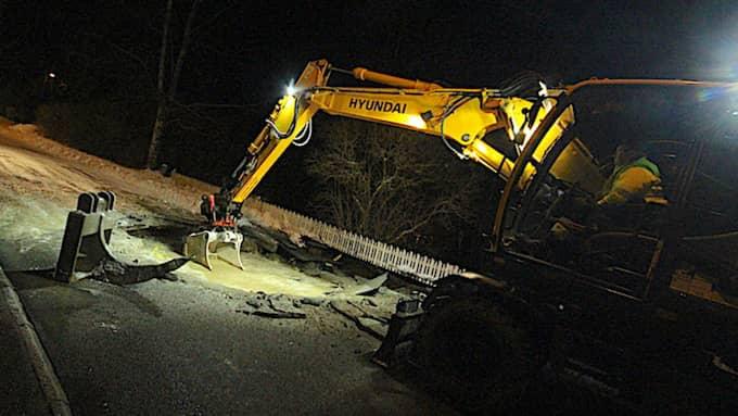 En stor läcka gör att Köpings kommun är utan vatten. Foto: FREDRIK KLEVENHAUS/Magazin24.se