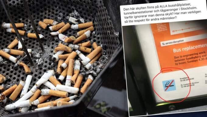 I sociala medier rasar många mot medresenärer som inte respekterar rökförbudet. Och det är ett problem för SL.