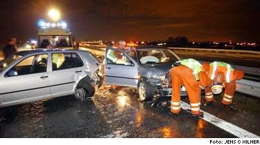 Kaotisk rusningstrafik orsak till olyckor