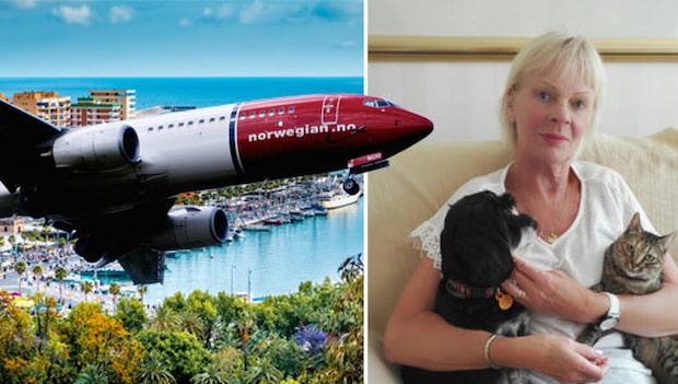 Drifa, 72, kastades av flyget hem till Sverige