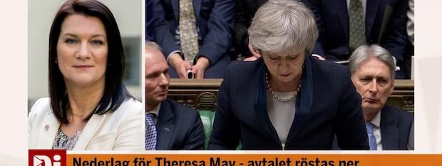 """Ann Linde efter omröstningen: """"Det Brexit vi minst av allt vill ha"""""""