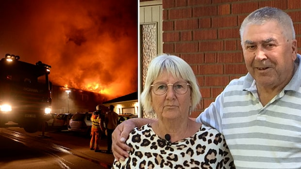 """Storbranden slukade parets hem: """"Vi lever som luffare"""""""