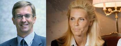 KD:s Lennart Sjögren välkomnar Anna Anka till partiet.