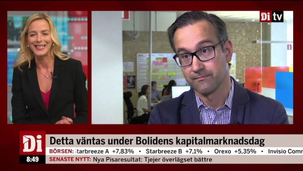 Anders Hägerstrand inför Bolidens kapitalmarknadsdag