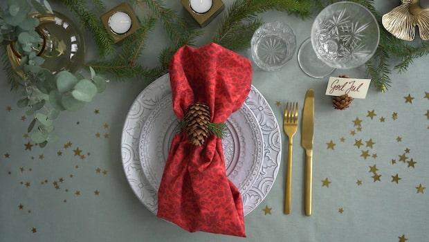 Julduka med kottar – naturligt och rustikt