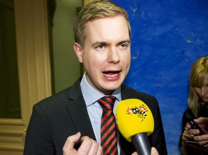 Miljöpartiets språkrör Gustav Fridolin. Foto: Jens L'Estrade