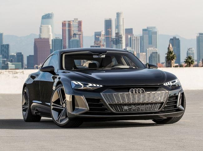 E-tron GT Concept ger en uppfattning om vad vi kan vänta oss av bilen som Audi ska lansera om två år.