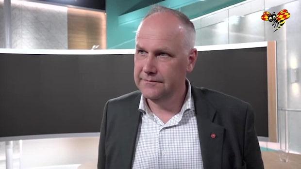 Jonas Sjöstedt (V) efter TV4:s partiledardebatt
