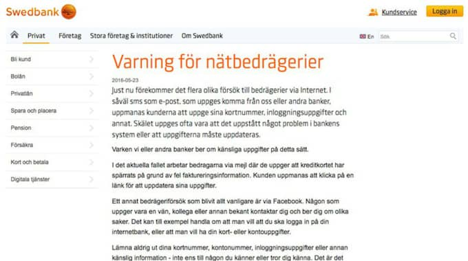 swedbank hemsida